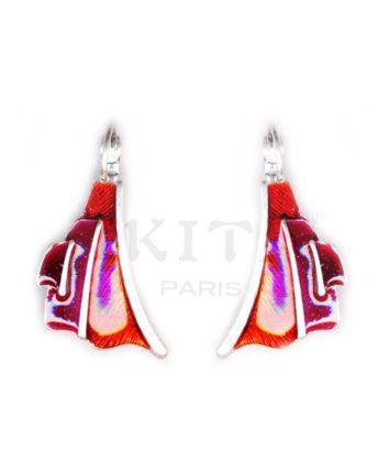 Boucles d'oreilles Ikita composées d'une décoration originale