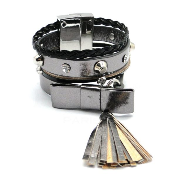 Bracelet Ikita multitours noeud papillon