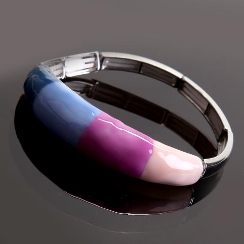 Bracelet Coloseo,en résine peinte - Tons roses,bleus
