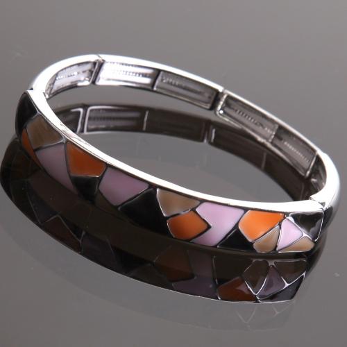 Bracelet émaillé Arlequino Rose,orange,beige,noir