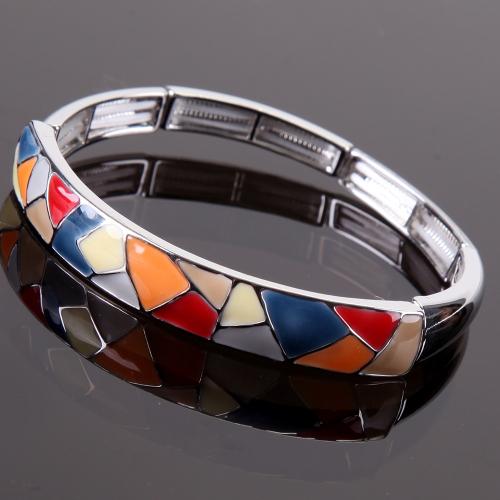 Bracelet émaillé Arlequino Rouge,orange,gris,paille,marine