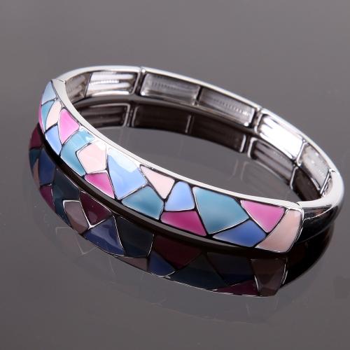 Bracelet émaillé Arlequino Tons roses,bleus