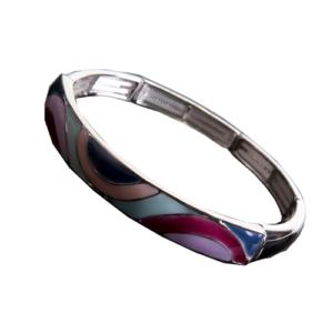 Bracelet émaillé Okiolino Rose,fushia,bleu