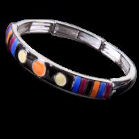 Bracelet émaillé Rotondo Orange,brun,paille,bleu