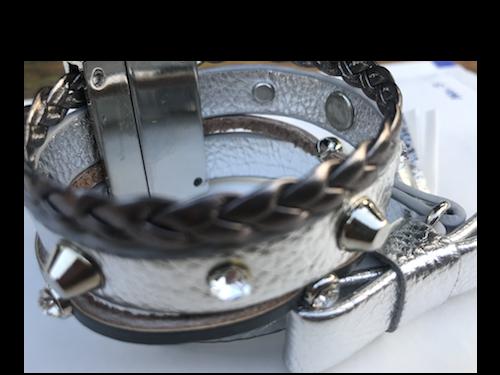 Bracelet multi tours argenté