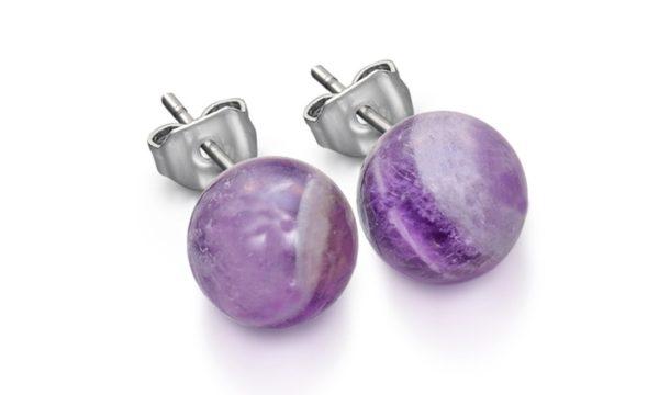 BO Violet pierre semi précieuse, amethyste