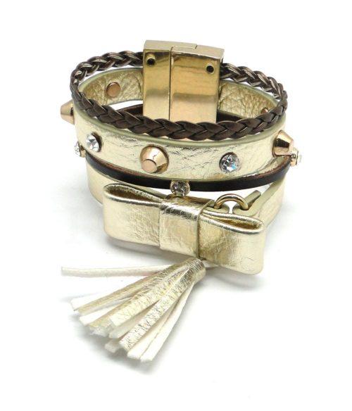 Bracelet multitours doré