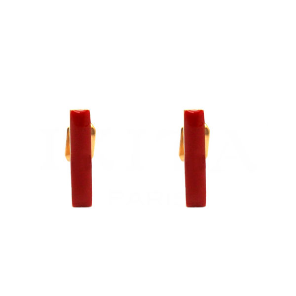 Boucles Ikita barrette rouge