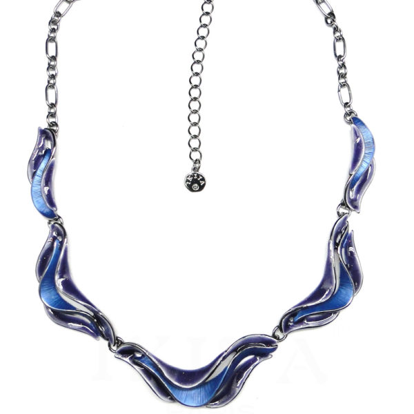 Collier bleu vague