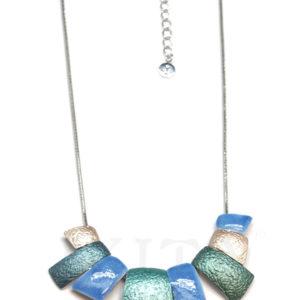 collier Ikita galets bleus