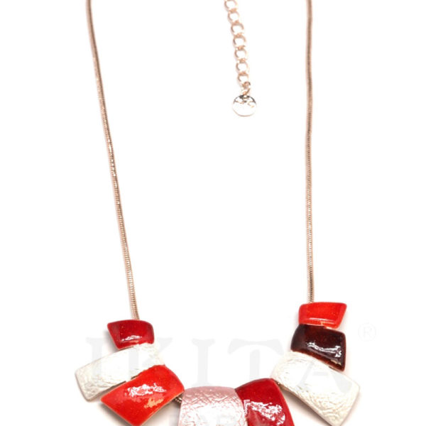 collier Ikita galets rouges