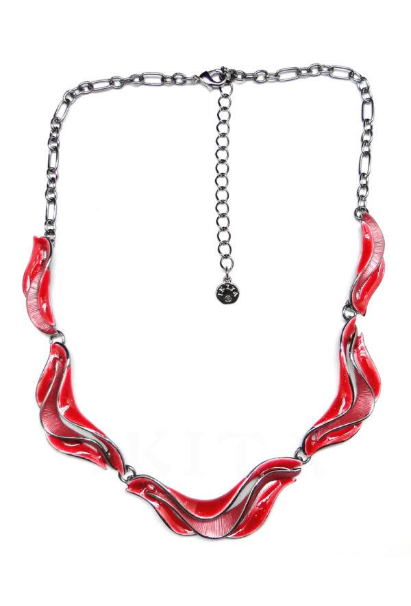 collier vague rouge