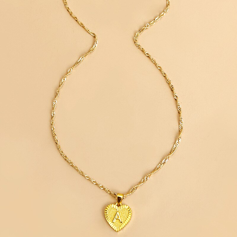 Coeur pendentif initiale