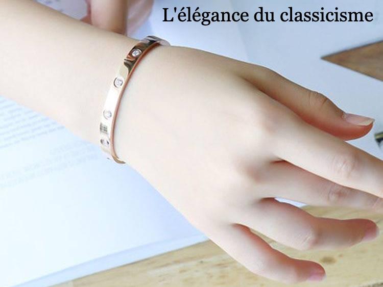Bracelet plat cristal