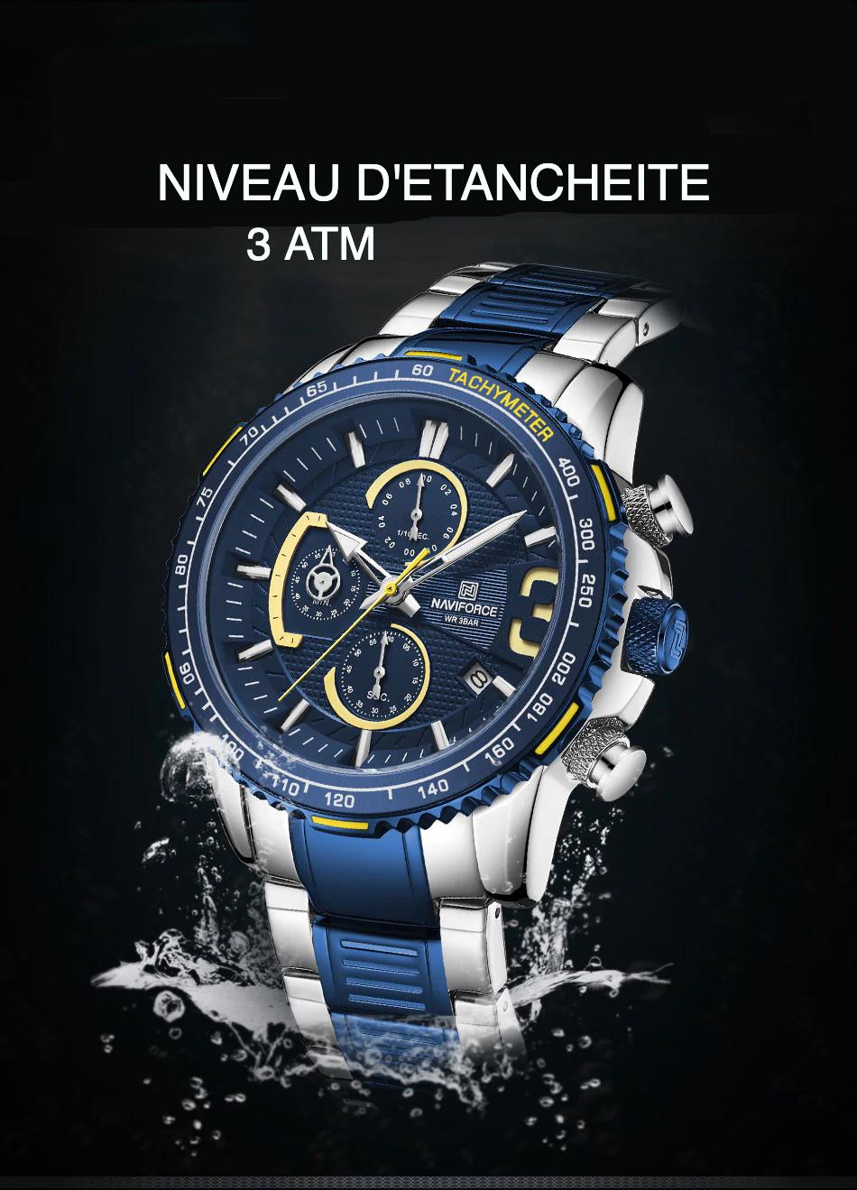 Naviforce 8017 Quartz multifunction chronograph watch * Fashion  Jewelry-Milea Fantasy watches *