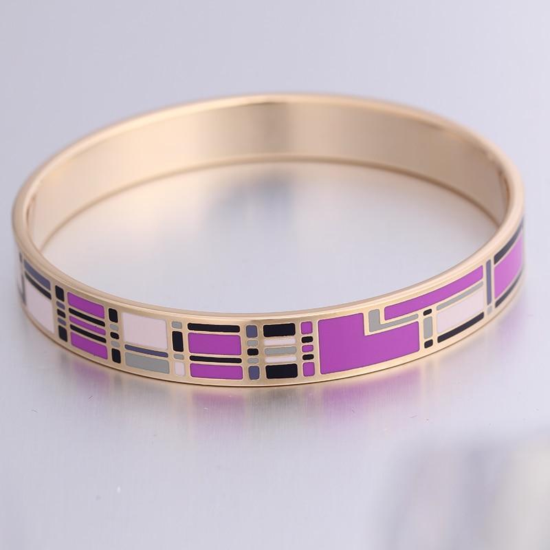 Bracelet géométrique emaillé