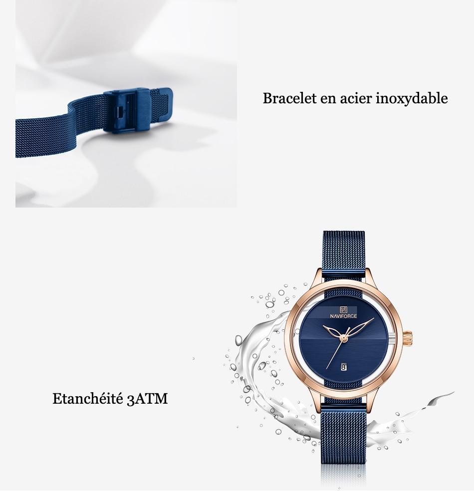 Montre bracelet détourée Naviforce 5014
