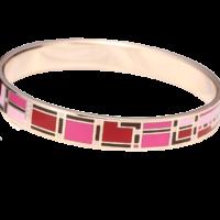 Bracelet email rouge