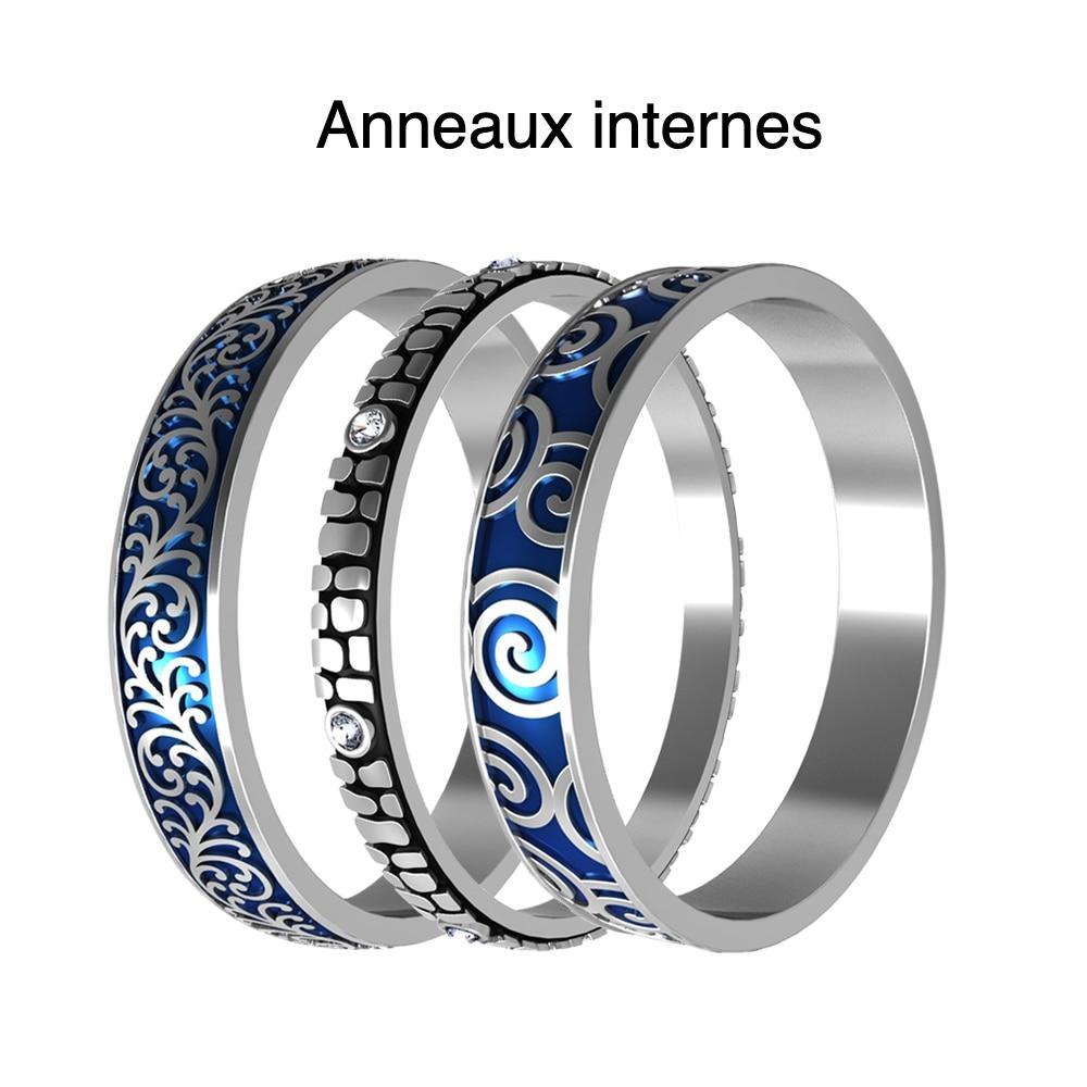 Cremo – bagues rotatives en titane et acier pour femmes, accessoires de fabrication de Bijoux, remplis et interchangeables